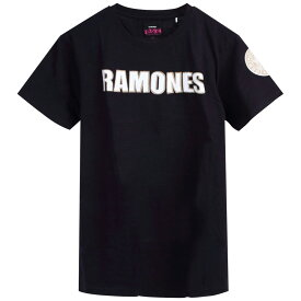 RAMONES ラモーンズ - LOGO & PRESIDENTIAL SEAL WITH APPLIQUE MOTIFS / Black Label(ブランド) / Tシャツ / メンズ 【公式 / オフィシャル】