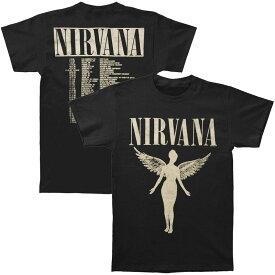 NIRVANA ニルヴァーナ (Bleach発売30周年記念 ) - In Utero Tour / バックプリントあり / Tシャツ / メンズ 【公式 / オフィシャル】