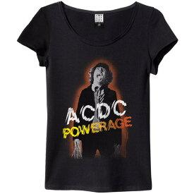 AC/DC エーシーディーシー (地獄のハイウェイ40周年記念 ) - POWERAGE / Amplified( ブランド ) / Tシャツ / レディース 【公式 / オフィシャル】