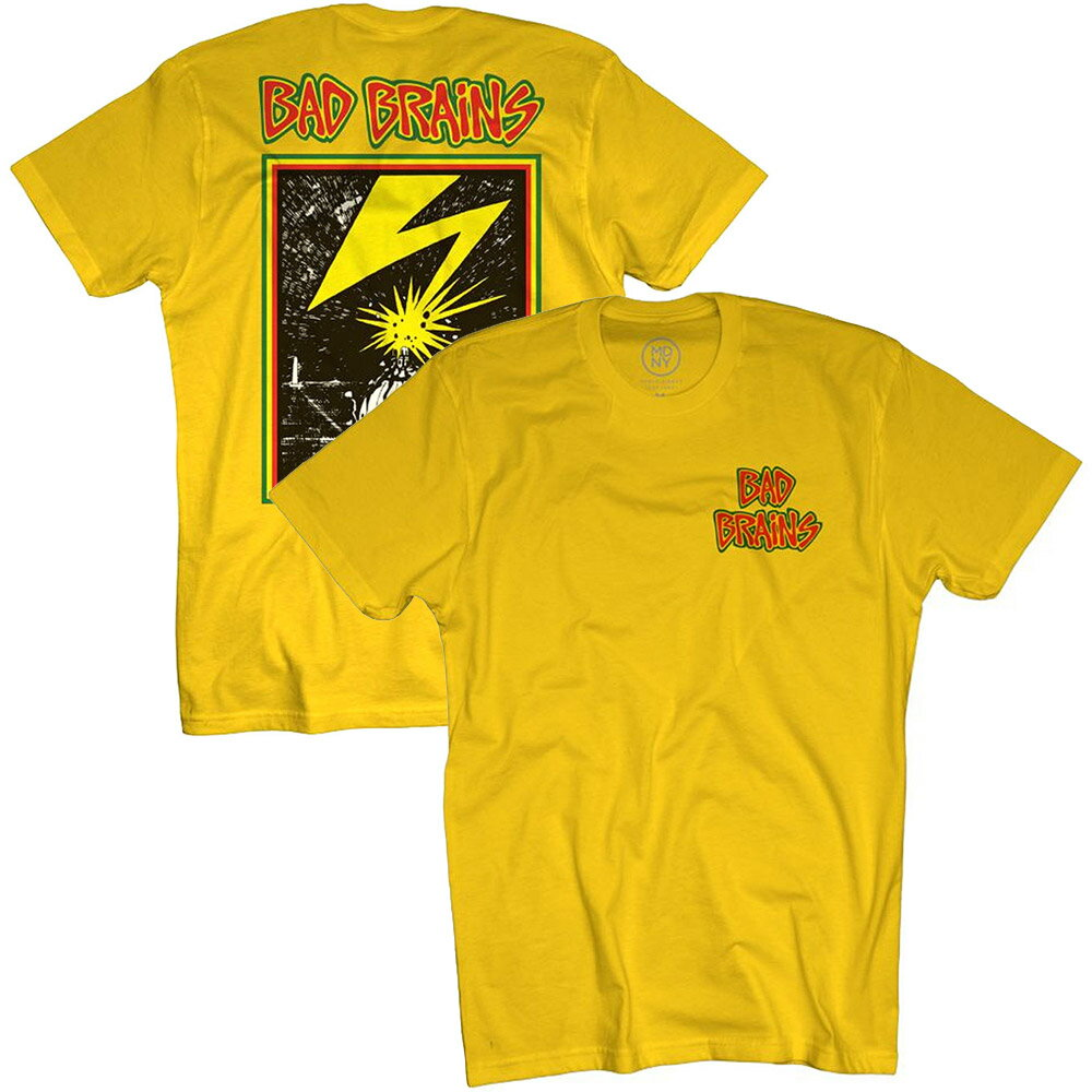 BAD BRAINS バッドブレインズ Logo / バックプリントあり / Tシャツ / メンズ 【公式 / オフィシャル】