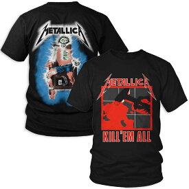 METALLICA メタリカ - KILL EM ALL / バックプリントあり / Tシャツ / メンズ 【公式 / オフィシャル】