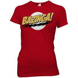 BIG BANG THEORY ビッグバンセオリー BAZINGA / Tシャツ / レディース 【公式 / オフィシャル】