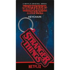 STRANGER THINGS ストレンジャー・シングス (放送5周年 ) - Logo / ラバー・キーリング / キーホルダー 【公式 / オフィシャル】