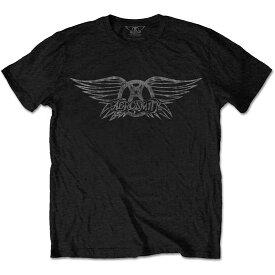 AEROSMITH エアロスミス - Vintage Logo / Tシャツ / メンズ 【公式 / オフィシャル】