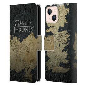 GAME OF THRONES ゲーム・オブ・スローンズ Westeros Map レザー手帳型 / iPhoneケース 【公式 / オフィシャル】
