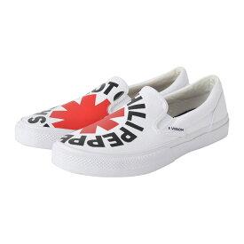 RED HOT CHILI PEPPERS レッチリ (初来日30周年記念 ) - CANVAS SLIP-ON RHCP White / VISION STREET WEAR(ブランド) / スニーカー / レディース 【公式 / オフィシャル】