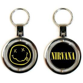 NIRVANA ニルヴァーナ - Smiley Logo / スピナー・キーチェイン / キーホルダー 【公式 / オフィシャル】