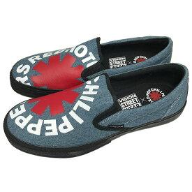 RED HOT CHILI PEPPERS レッチリ (初来日30周年記念 ) - CANVAS SLIP-ON RHCP DENIM / VISION STREET WEAR(ブランド) / スニーカー / メンズ 【公式 / オフィシャル】