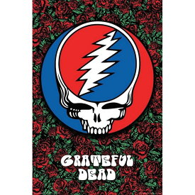 GRATEFUL DEAD グレイトフルデッド - Steal Your Face on Roses / ポスター 【公式 / オフィシャル】