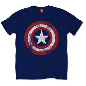 MARVEL COMICS マーベル・コミック - Captain America Distressed Shield / Tシャツ / メンズ 【公式 / オフィシャル】