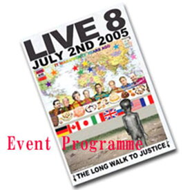 LIVE 8 ライブエイト - Live 8 Limited Edition Event Programme / パンフレット