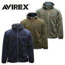 AVIREX 6173432 シャギー フリース パーカ【アヴィレックス shaggy fleece hood parka】メンズ ミリタリー カジュアル