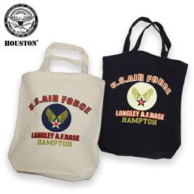 HOUSTON 6641 USAF トートバッグ【ヒューストン tote bag】ミリタリー カジュアル アウトドア エアフォース ウイングマーク セール