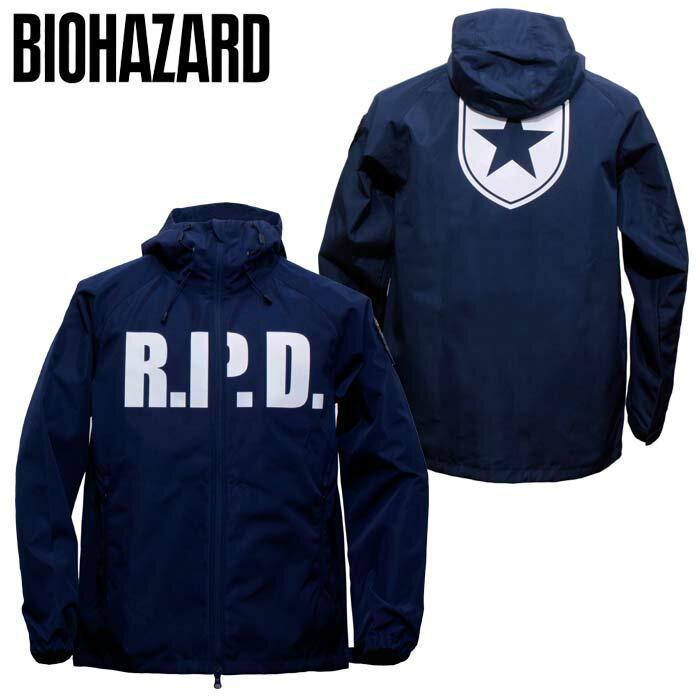 BIOHAZARD ウインドジャケット / R.P.D.【バイオハザード wind jacket】メンズ Raccoon Police Department ラクーン市警察 resident evil 生化危机