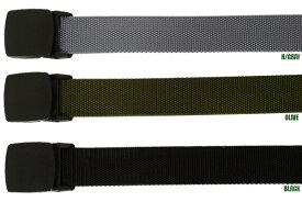 B.B.ナイロン・ベルト 【nylon belt】プラスチック・バックル 簡単構造 長さ最長118cm カーゴ デニム パンツ