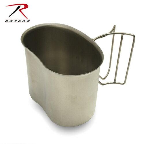 ROTHCO ステンレス キャンティーンカップ【ロスコ CANTEEN CUP】ミリタリー アウトドア 1QT キャンティーン ブッシュクラフト