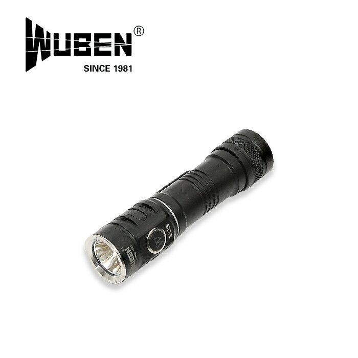 WUBEN E05 フラッシュライト【ウーベン flash light】マウンテンリーコン アウトドア キャンプ 単三電池可 最大900ルーメン