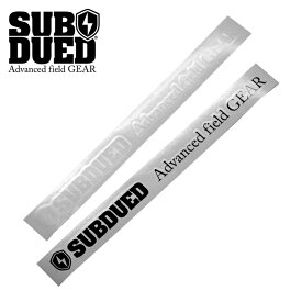 SUBDUED DECAL horizontal / LARGE【サブデュード デカール ホリゾンタル ラージ】ミリタリー アウトドア マウンテンリーコン カッティングシート シール