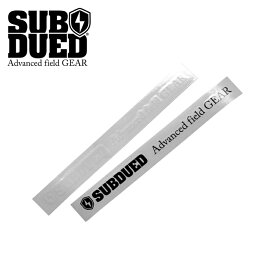 SUBDUED DECAL horizontal / MEDIUM【サブデュード デカール ホリゾンタル ミディアム】ミリタリー アウトドア マウンテンリーコン カッティングシート シール