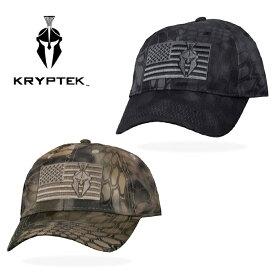 クリプテック KRYPTEK アメリカンフラッグ カーブ キャップ american flag cap ハイランダー highlander テュポン typhon カモ 迷彩 サバイバルゲーム サバゲ ミリタリー メンズ レディース 星条旗 帽子 2カラー