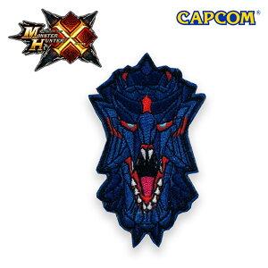 Monster Hunter CROSS PATCH / FACE GLAVENUS モンスターハンタークロス フェイス ディノバルド 刺繍 パッチ カプコン capcom メンズ ミリタリー カジュアル アウトドア ゲーム パッチ パネル ワッペン 国内