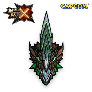 Monster Hunter CROSS PATCH / FACE ASTALOS モンスターハンタークロス フェイス ライゼクス 刺繍 パッチ カプコン capcom メンズ ミリタリー カジュアル アウトドア ゲーム パッチ パネル ワッペン 国内正