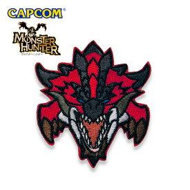 Monster Hunter PATCH / FACE RATHALOS モンスターハンター フェイス リオレウス 刺繍 パッチ カプコン capcom メンズ ミリタリー カジュアル アウトドア ゲーム パッチパネル ワッペン 国内正規