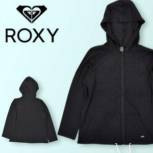 送料無料 長袖 ラッシュパーカー ROXY ロキシー レディース SURFACE PARKA ブラック 黒 ロゴ 定番 UVカット 紫外線対策 パーカー ラッシュガード ビーチウェア サーフィン 海水浴 プール rly201039 35%o