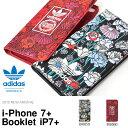 アイフォン7プラス ケース adidas originals アディダス オリジナルス ボヘミアン 花柄 折り畳み 手帳型 カード収納 スマホケース iPhon...