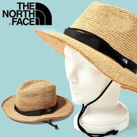 麦わら帽子 ハット THE NORTH FACE ザ・ノースフェイス Raffia Hat ラフィアハット メンズ レディース 日差し対策 ヤシ科の天然素材 サファリハット nn01554