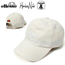 数量限定 送料無料 ellesse×Hombre Nino ロゴキャップ エレッセ LOGO CAP 帽子 メンズ レディース 2020春夏新作 ホワイト コラボモデル