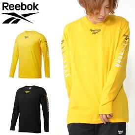 45%off 長袖 Tシャツ リーボック クラシック Reebok CLASSIC メンズ CL ベクター グラデーションプリント ロングスリーブ Tシャツ ロンT ロゴ Vネック スポーツ カジュアル スポカジ FXP22