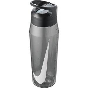 水筒 ナイキ NIKE TR ハイパーチャージ ストロー ボトル 32oz 容量946ml 0.9L 透明 直飲み ストロー付き クリアボトル ウォーターボトル スポーツボトル 水分補給 グレー 灰 HY4001