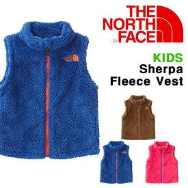 852ec28668df3 送料無料 キッズ モコモコ フリース ベスト ジャケット THE NORTH FACE ザ・ノースフェイス Sherpa Fleece