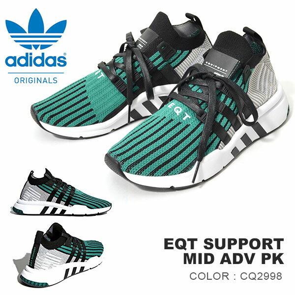 送料無料 スニーカー アディダス オリジナルス adidas Originals メンズ EQT SUPPORT MID ADV PK ミッドカットスニーカー 靴 cq2998 グリーン 緑 3本線