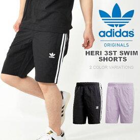 8748622726a サーフパンツ adidas ORIGINALS アディダス オリジナルス メンズ HERI 3ST SWIM SHORTS 3本線 水着 海水