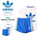 上下セット adidas Originals アディダス オリジナルス キッズ ベビー HERI TREFOIL TEE SET 半袖 ロゴTシャツ ショートパ...