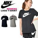 半袖TシャツナイキNIKEレディースロゴTEEシャツ半袖Tシャツプリントトレーニングスポーツウェア2018夏新色10%OFF