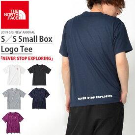 送料無料 スクエア ロゴ 半袖Tシャツ THE NORTH FACE ザ・ノースフェイス メンズ 赤ロゴ S/S Small Box Logo Tee ショートスリーブスモールボックスロゴティー nt31955 速乾
