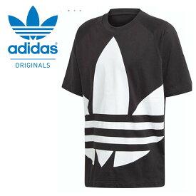 30%OFF 半袖 Tシャツ adidas ORIGINALS アディダス オリジナルス メンズ BIG TREFOIL TEE ビッグロゴ ロゴTシャツ プリントTシャツ ブラック 黒 2020春新作 GVT85