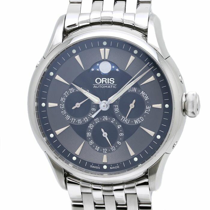 オリス ORIS アートリエ コンプリケーション 01 582 7592 メンズ ムーンフェイズ 自動巻き/34738 【中古】 【クリーニング済】 腕時計