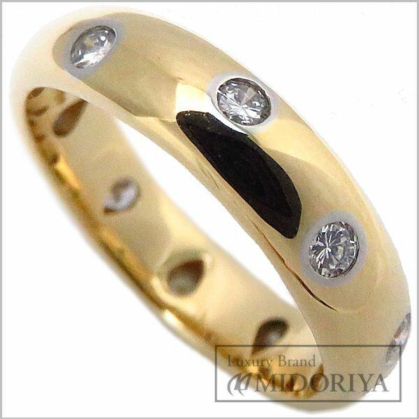 ティファニー TIFFANY ドッツリング ダイヤモンド10P 7号 750YGxPt950 18金イエローゴールド 指輪/096556【中古】【クリーニング済】