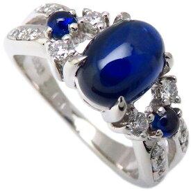 田崎真珠 TASAKI リング サファイヤ ダイヤモンド Pt900 11.5号 指輪/096941【中古】