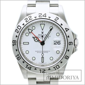 勞力士勞力士探險家 2 16570 最後隨機產品 ☆ 生產結束模型男裝白色 / 34101 手錶樂天卡司