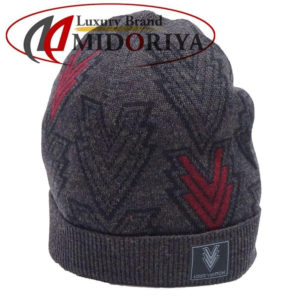 【最大5千円OFFクーポン】ルイヴィトン LOUIS VUITTON 帽子 トリプルV ニット帽 メンズ チャコールグレー ウール M70013 /041971【中古】