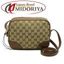 4ea10e2d0588 Take 449413 Gucci GUCCI ☆ unused GG pattern shoulder bag slants; canvas X  leather khaki X brown /052839