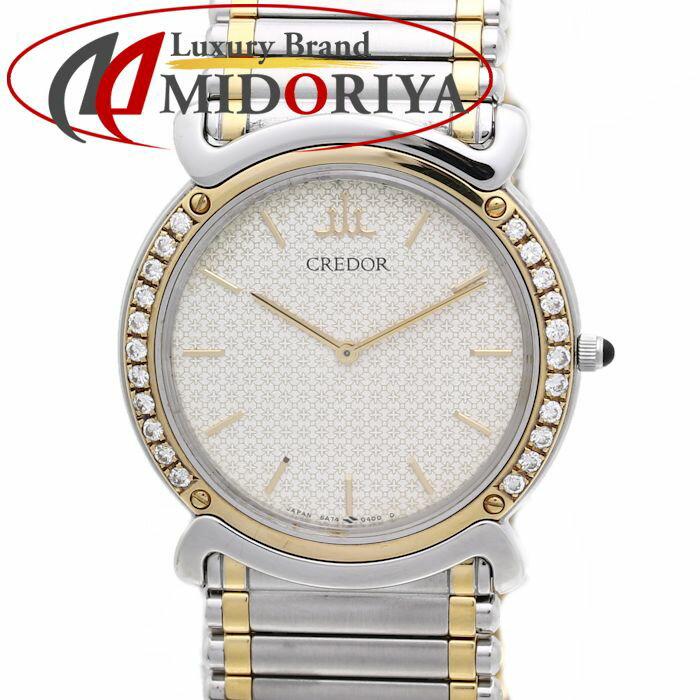 セイコー SEIKO CREDOR クレドール リネアクルバ 5A74-0190 ダイヤベゼル K18YG/SSコンビ ボーイズ /35995 【中古】 腕時計