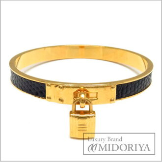 Hermes Bangle HERMES Kelly Bangle GPx lizard gold x black / 94174