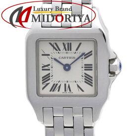 【ポイント10倍】Cartier カルティエ サントス ドゥモワゼル SM W25064Z5 ホワイト文字盤 レディース クオーツ /36067 【中古】 腕時計