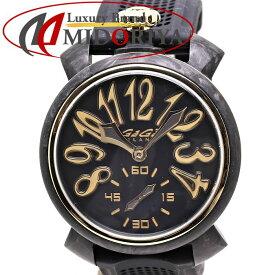 ガガミラノ マヌアーレ 48mm カーボン 世界限定300本 ラバー メンズ GaGa MILANO 6064.01S /36159 【中古】 腕時計
